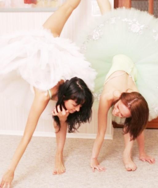 Гимнастки Эротика: балерина без трусов