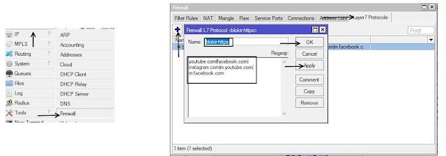 Memblokir Sebuah Situs Facebook,Youtube,Google (HTTPS) dengan Layer 7