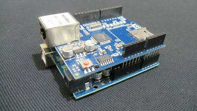 Ethernet Shield W5100 - Montado