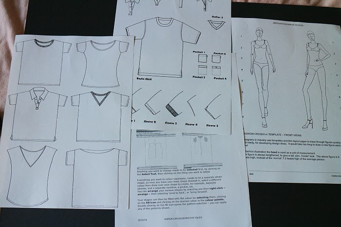 fashion design concepts and communication, t-shirts, robert gordon university