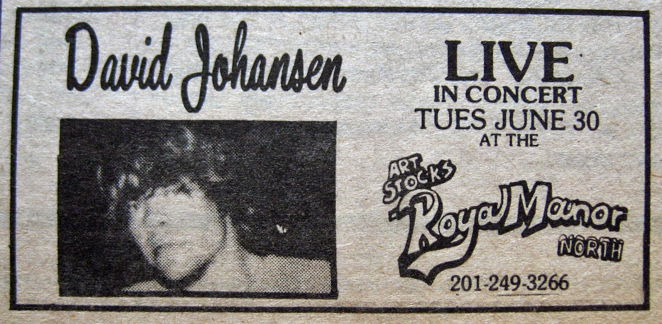 Royal Manor North ad David Johansen 1981