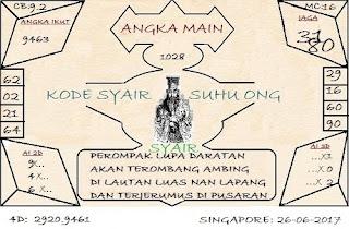 SYAIR SINGAPORE SUHU ONG, BOCORAN TOGEL MASTER PREDIKSI KODE SYAIR TOGEL SGP SENIN