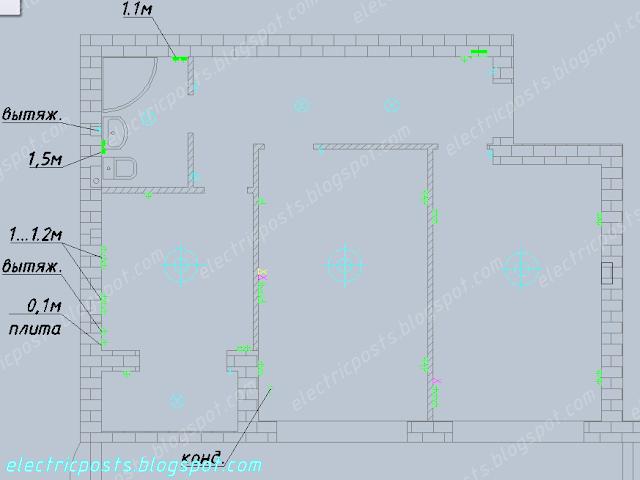 План расположения электроприборов