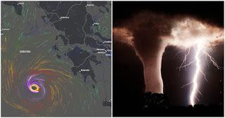Πρωτοφανές: Το Εθνικό Αστεροσκοπείο προειδοποιεί για κυκλώνα στην Ελλάδα με 12 μποφόρ την Παρασκευή