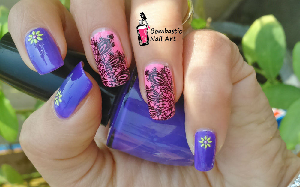 Black Lace Nail Art with Water Slide Decals – Bombastic Nail Art