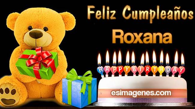 Feliz Cumpleaños Roxana