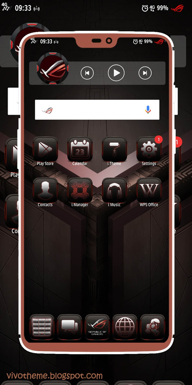 ROG Theme itz For Vivo