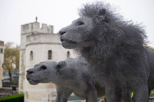 Realistic Animal Sculptures Made Entirely From Galvanised Wires         |          Vigorous Art