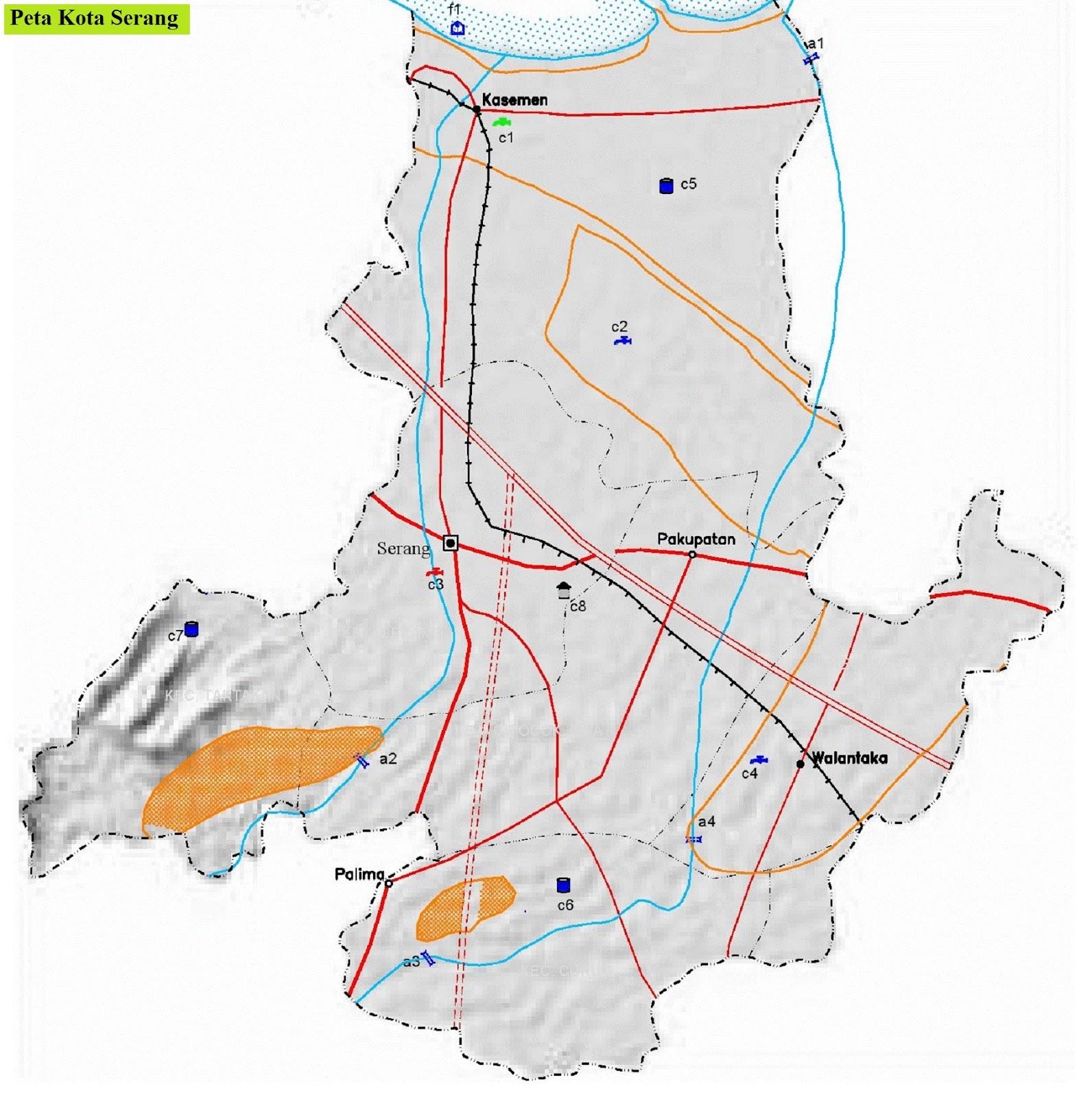 Peta Jalan di Kota Serang