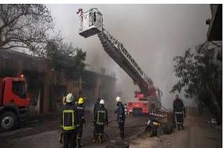 السيطره على حريق داخل منزل في منطقه الخليفه دون إصابات