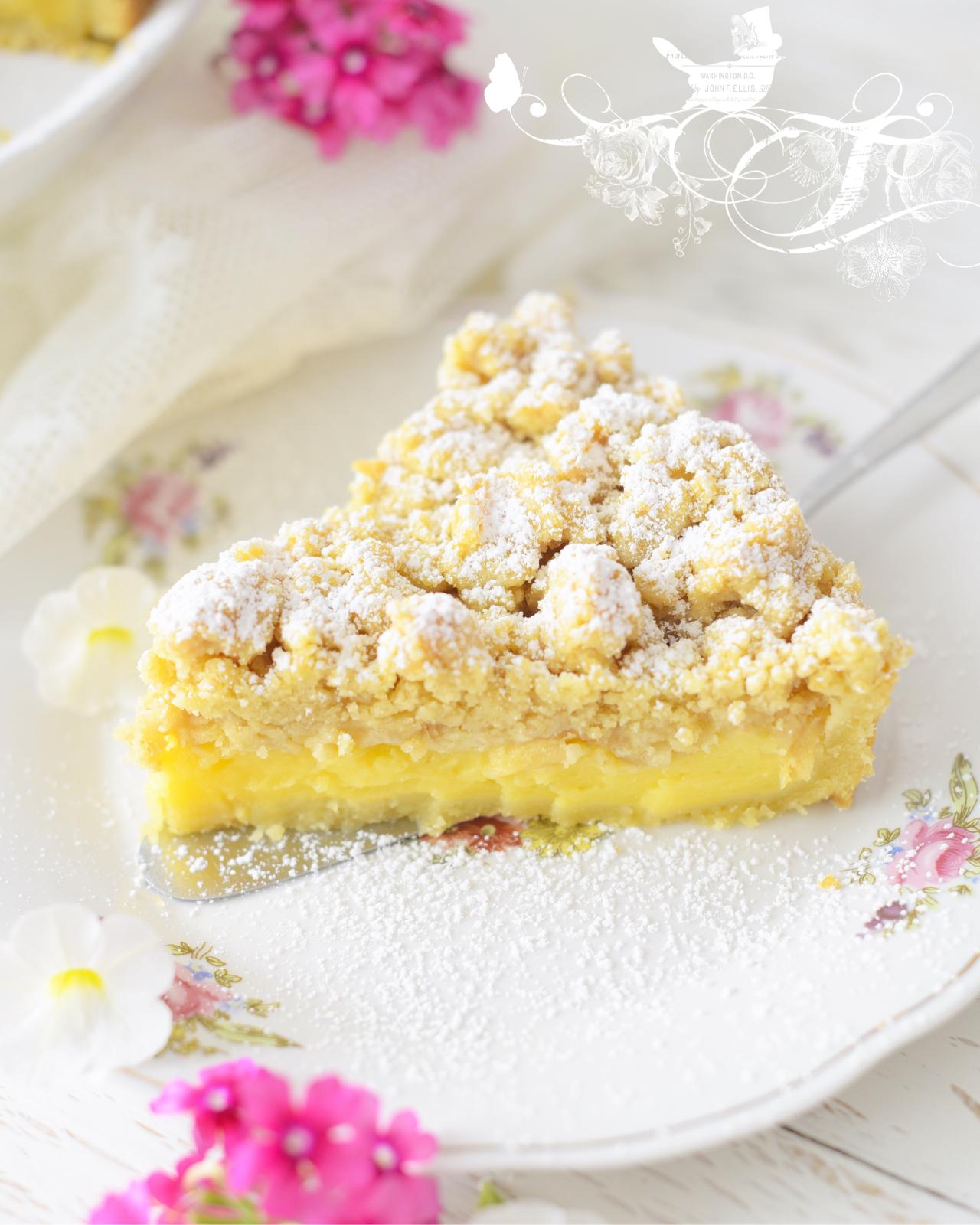 Kessy S Pink Sugar Apfel Streuselkuchen Mit Vanillepudding