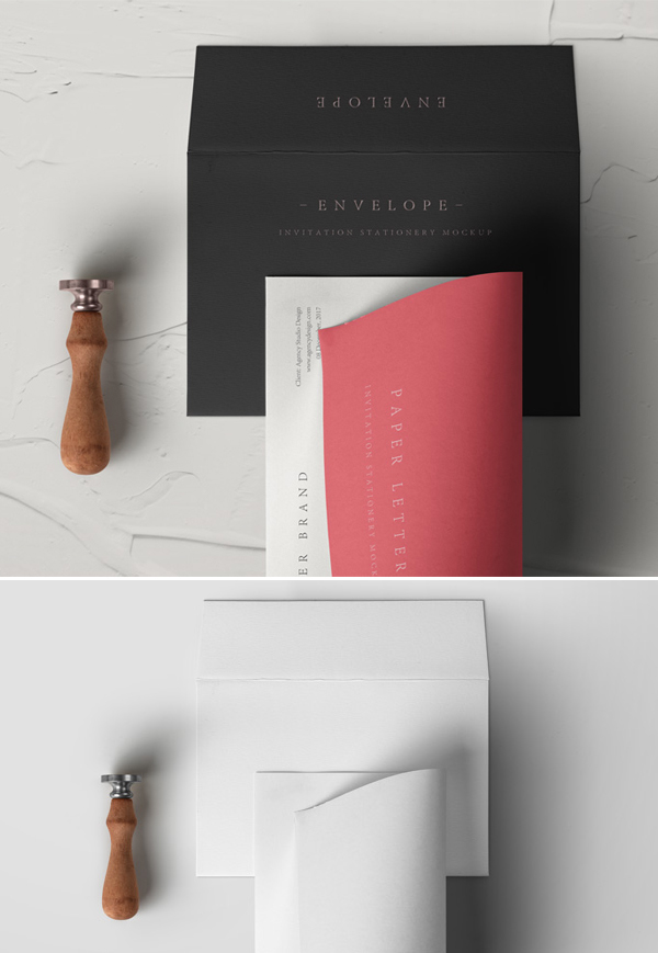 Download Free Mockup PSD 2018 - Free Psd Invitation Envelope Mockup
