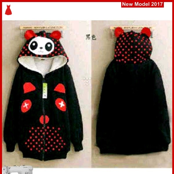 MSF0059 Model Jaket Panda Murah Black Modis BMG