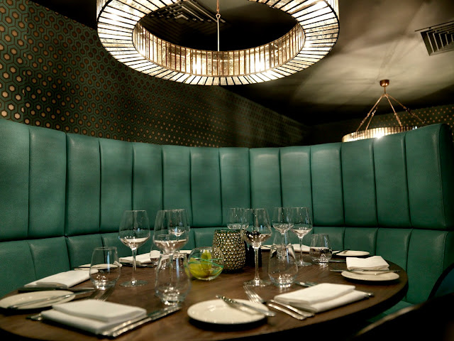 booth table inside marco pierre white steakhouse liverpool
