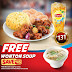 Free Wonton Soup for Every Sweet & Sour Pork Rice Meal w/ Iced Tea for only P131 at Chowking