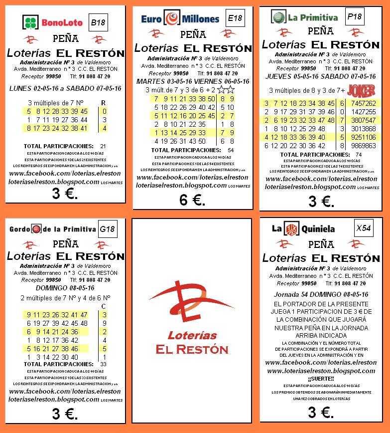 loterias y quiniela: