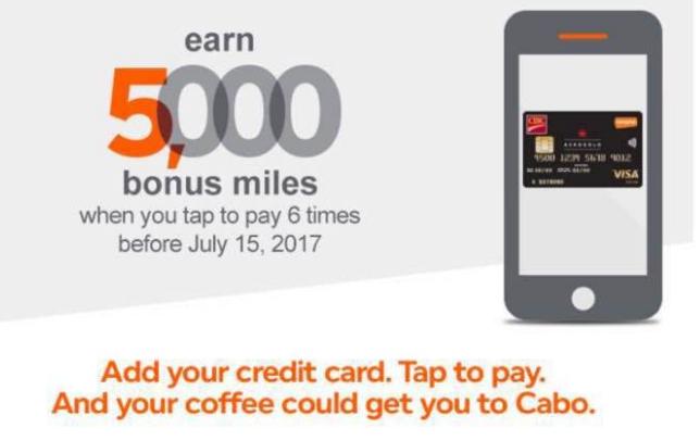 Canadian Rewards: Tap to pay 6 times to earn 5000 bonus Aeroplan miles (Targeted)