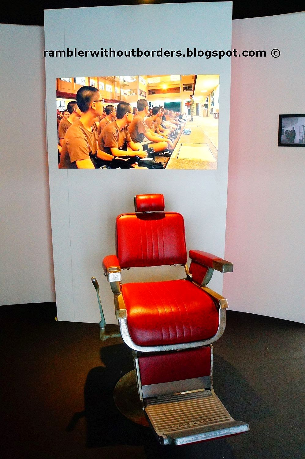 Barber chair, SAF50, Singapore