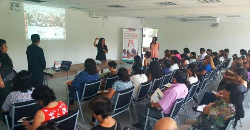 DRELM promueve fortalecimiento del idioma inglés de docentes EBA - www.drelm.gob.pe