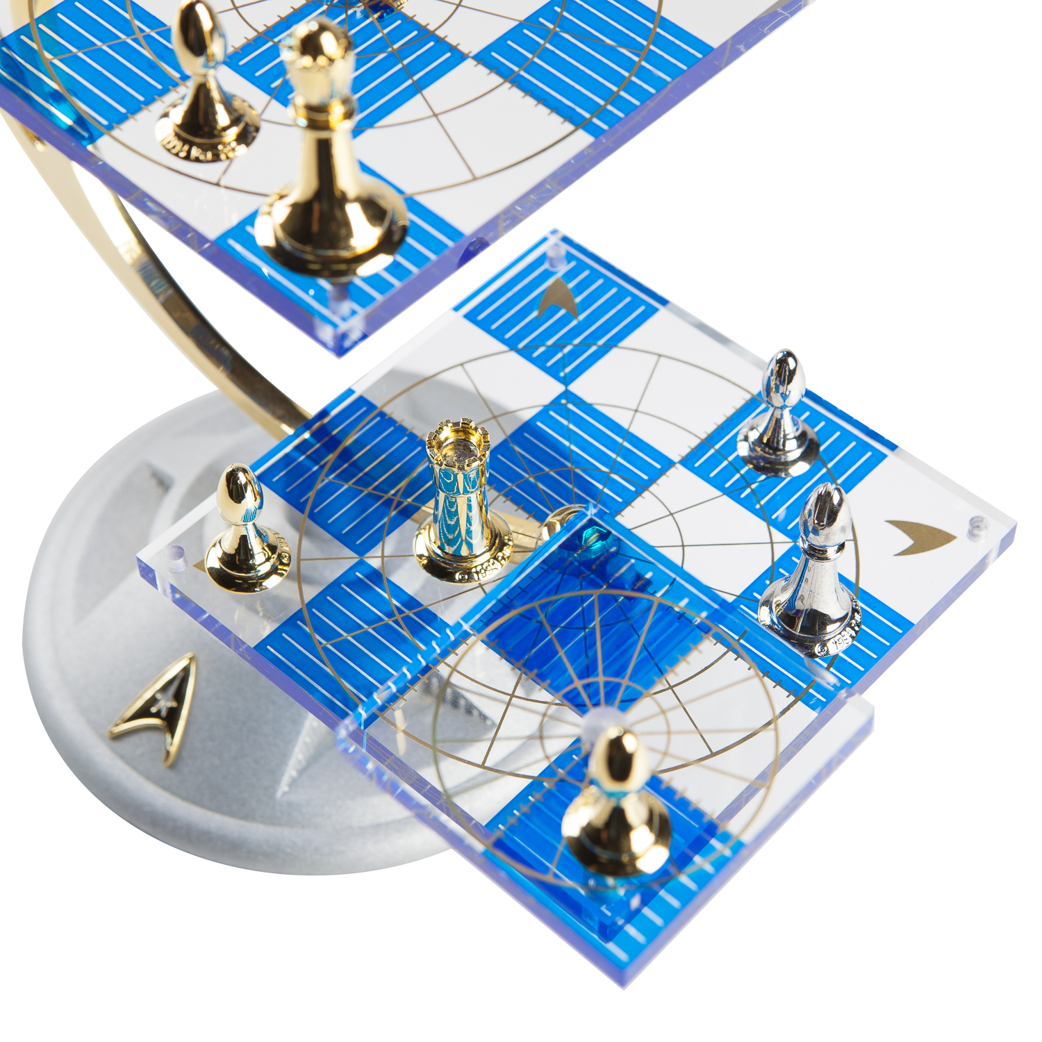 The trek collective franklin mint tridimensional chess set returning for the 50th anniversary - Tri dimensional chess board ...