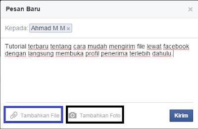 Cara Mengirim File Secara Mudah Lewat Facebook