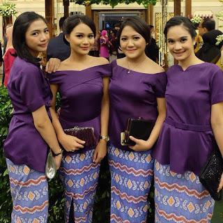 inspirasi model kebaya modern rok batik