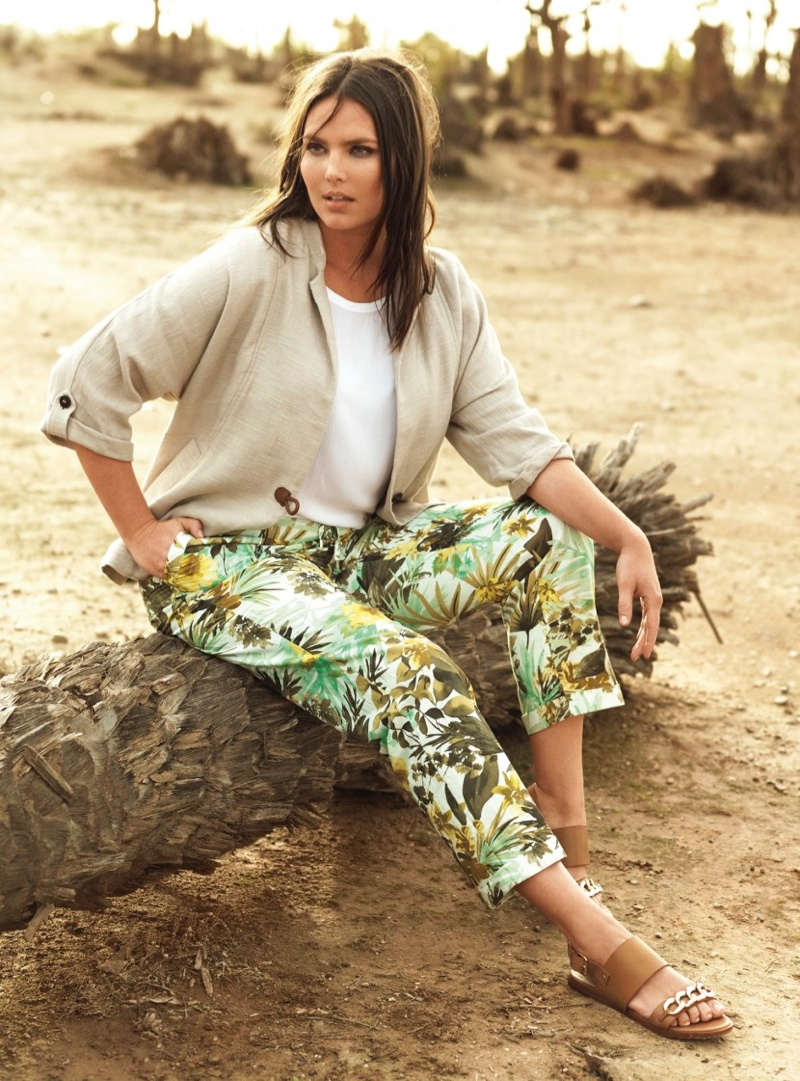 Mango Violeta Spring/Summer 2015 Lookbook featuring Candice Huffine