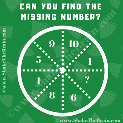 In this Missing Number Maths Puzzle, your challenge is to find the value of the missing number