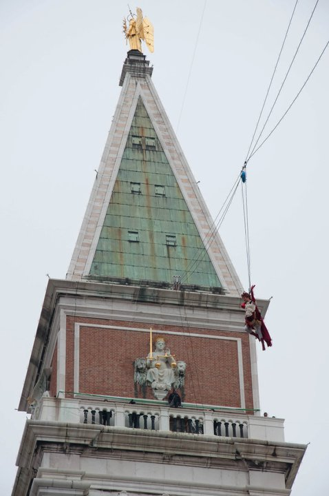 Flight of the Angel, Venice Carnival 2011, Venice, Veneto, Italy