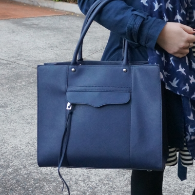 Rebecca Minkoff medium MAB tote in moon navy | AwayFromTheBlue