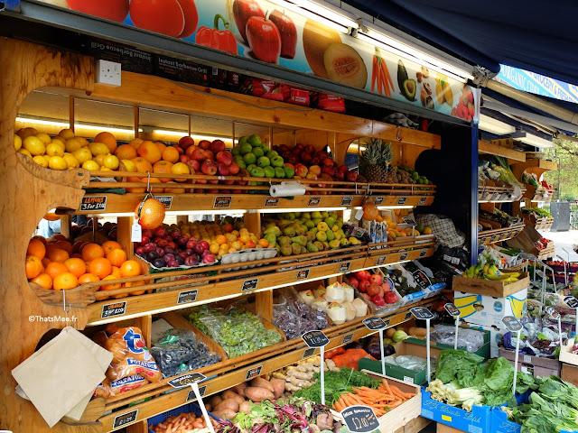 Fruits & Légumes vegetables Broadway Market Hackney Londres