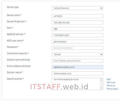 Sophos XG, Add Server Active Directory - ITSTAFF.web.id