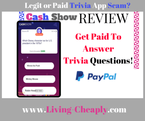Cash Show Review - Legit or Paid Trivia App Scam?