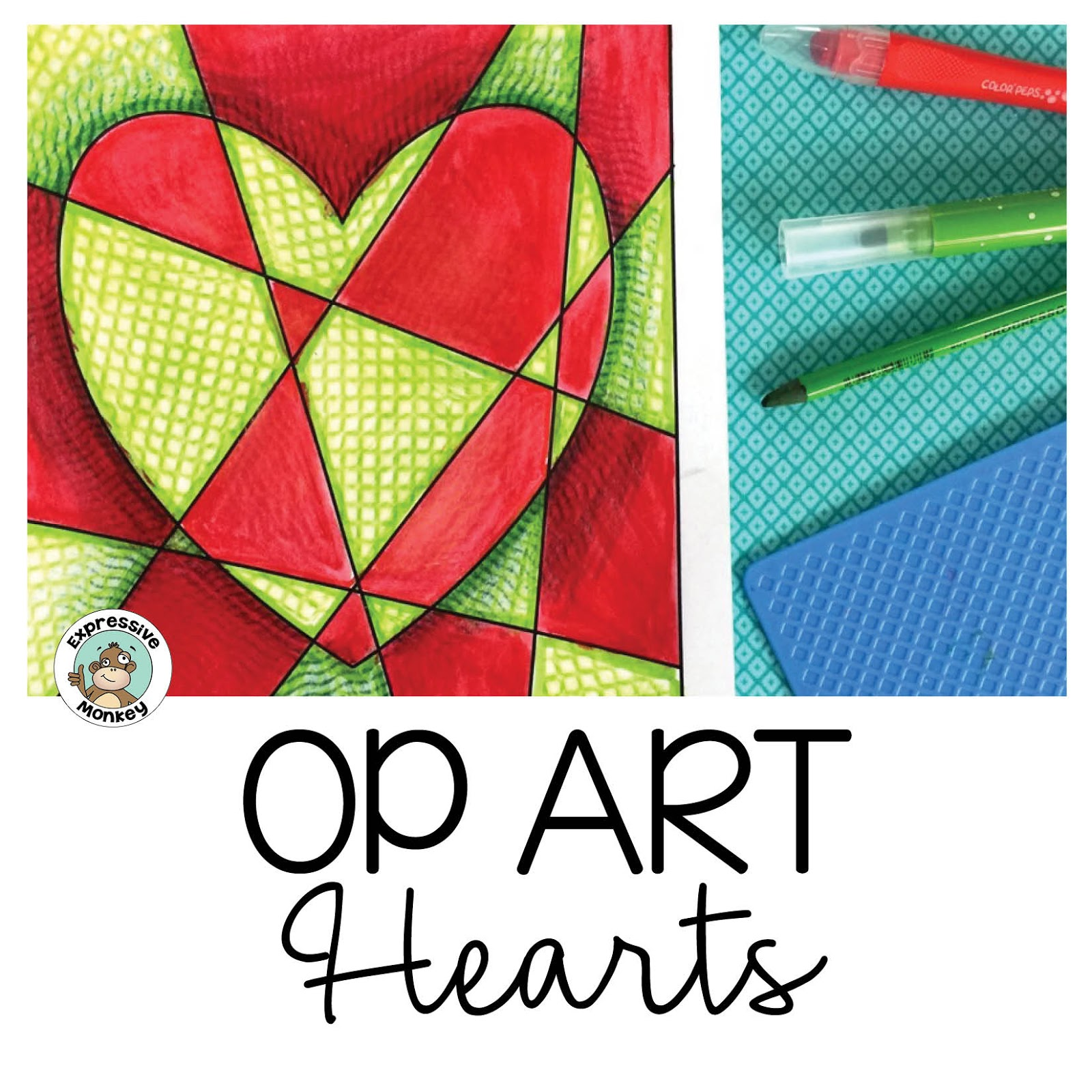 Op Art Heart Techniques