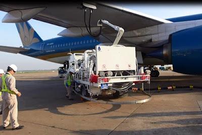 Hệ thống tiếp nhiên liệu ngầm giúp an toàn cho hoạt động hậu cần, phục vụ máy bay trước khi cất cánh.