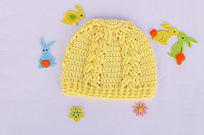 4 -Majovel Crochet Gantillo Imagen Hermoso gorro a crochet juego con la capita amarilla