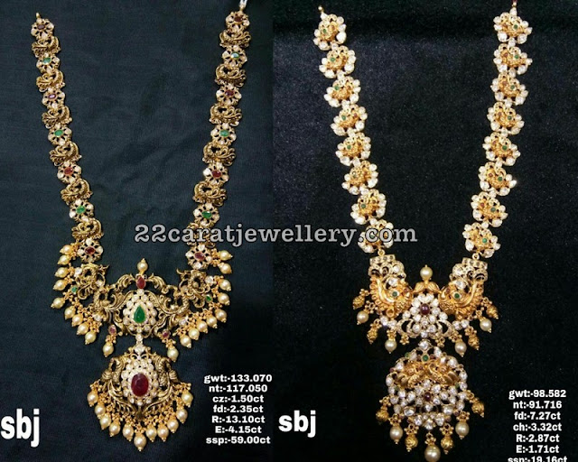 Peacock Long Chains by Sri Balaji Jewellers