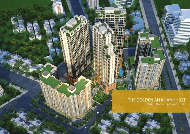 Phối cảnh tổng thể dự án The Golden An Khánh