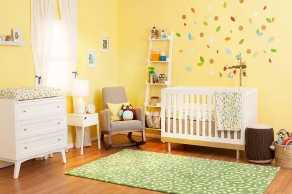 Thiết kế nội thất phòng ngủ cho bé sơ sinh hợp phong thủy