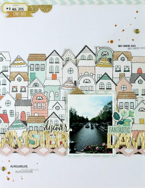 Discover Amsterdam | Scrapbooking Layout | Mein kreatives Jahr 2015