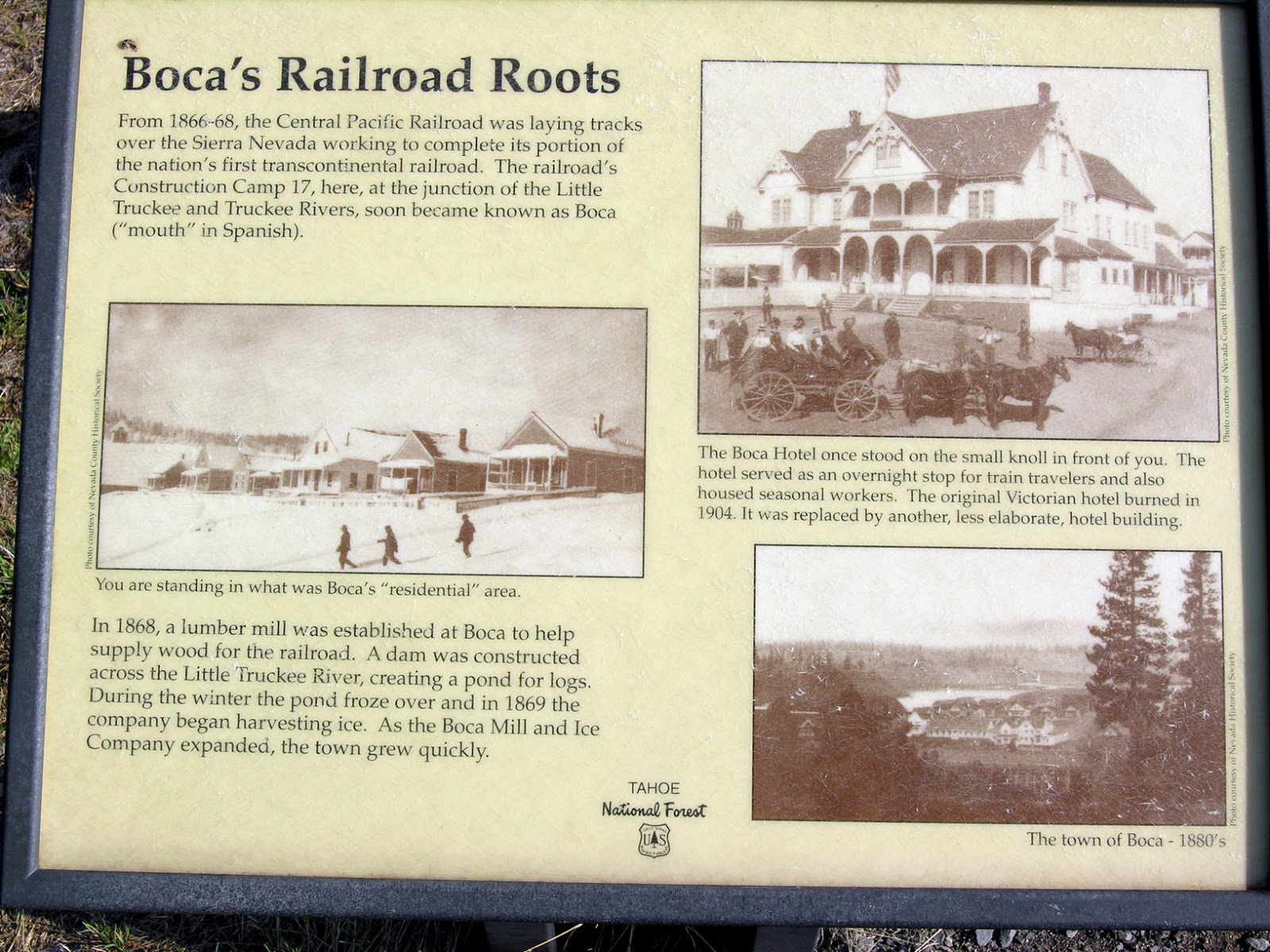 hot to make a resume%0A The first interpretive sign  Boca u    s Railroad Roots