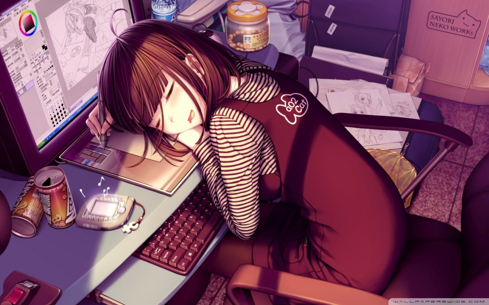 Chica anime durmiendo anime wallpapers - Wallpaper manga anime ...