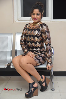 Actress Madhavi Latha Pictures in Short Dress at On Mona Birthday Premiere 0057