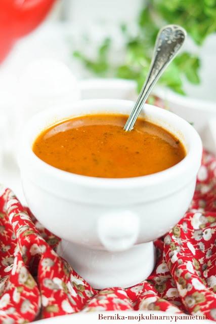 zupa, pomidory, papryka, krem pomidorowy, krem, bernika, kulinarny pamietnik, obiad