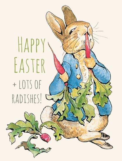 Vintage Easter bunny gorging on radishes CC1110 Postcard