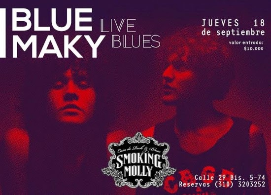 Blue Maky en Smoking Molly
