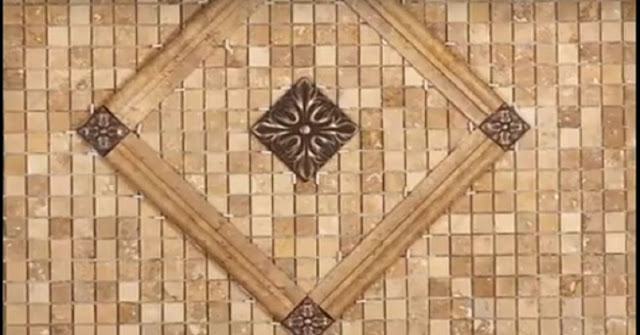 Combination of vitrified tiles with mosaic