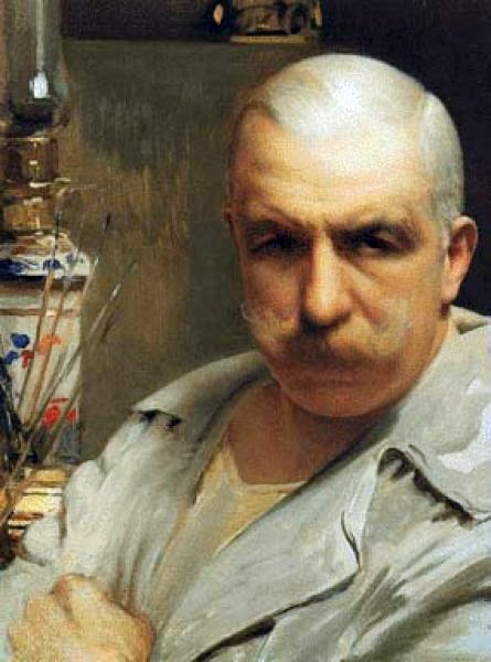 Vittorio Matteo Corcos, Self Portrait, Portraits of Painters, Matteo Corcos, Fine arts, Portraits of painters blog, Vittorio Matteo, Paintings of Vittorio Matteo, Painter Vittorio Matteo