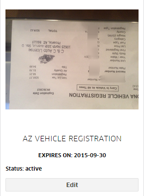 uber Vehicle Registration