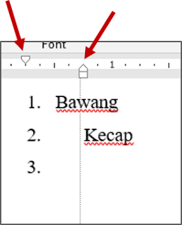 Mengubah List atau List Item Indentation